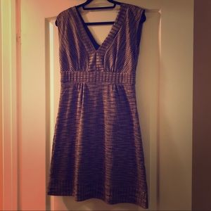 ICE brown and gold dress